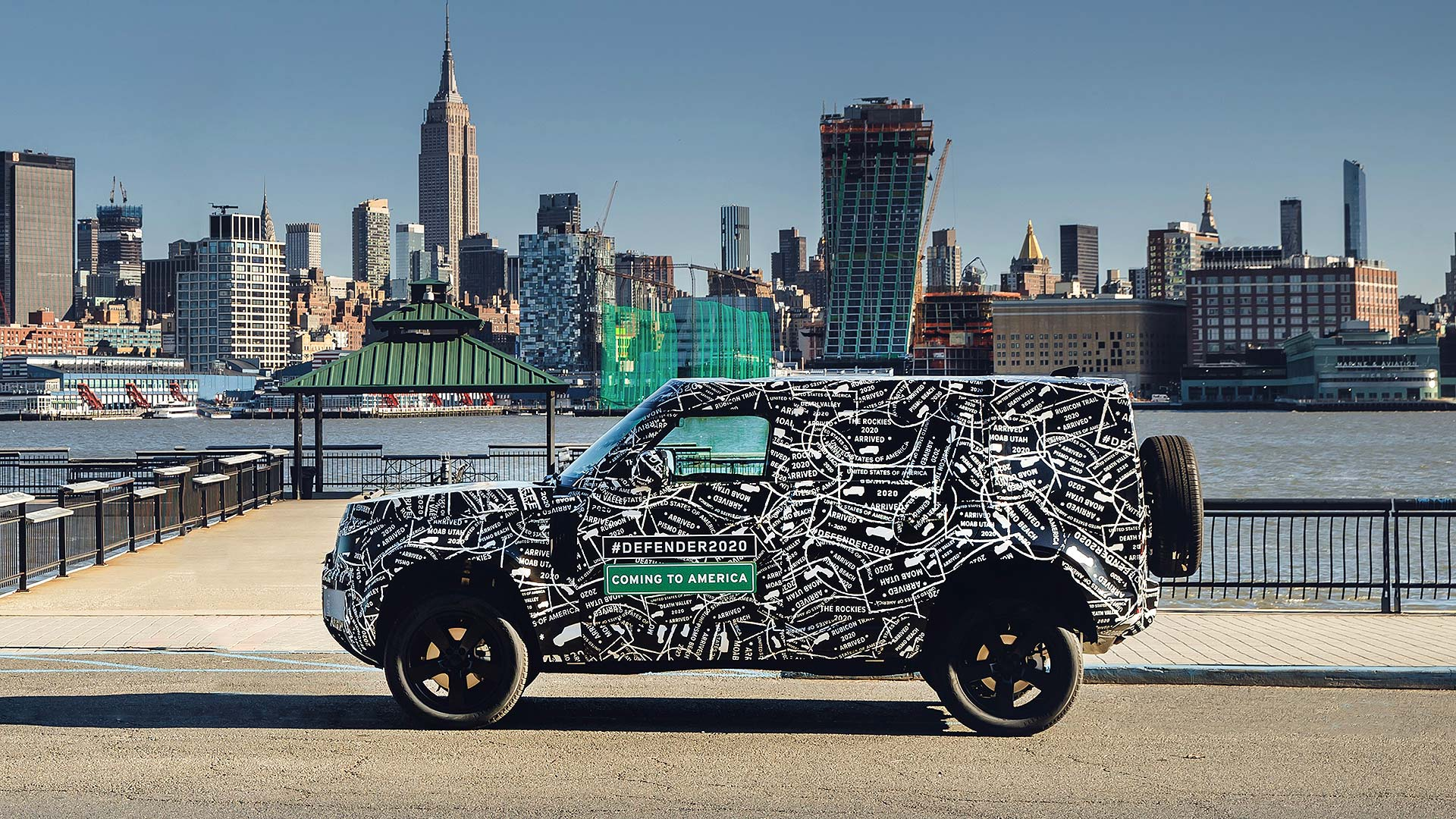 2019 Land Rover Defender disguised in America