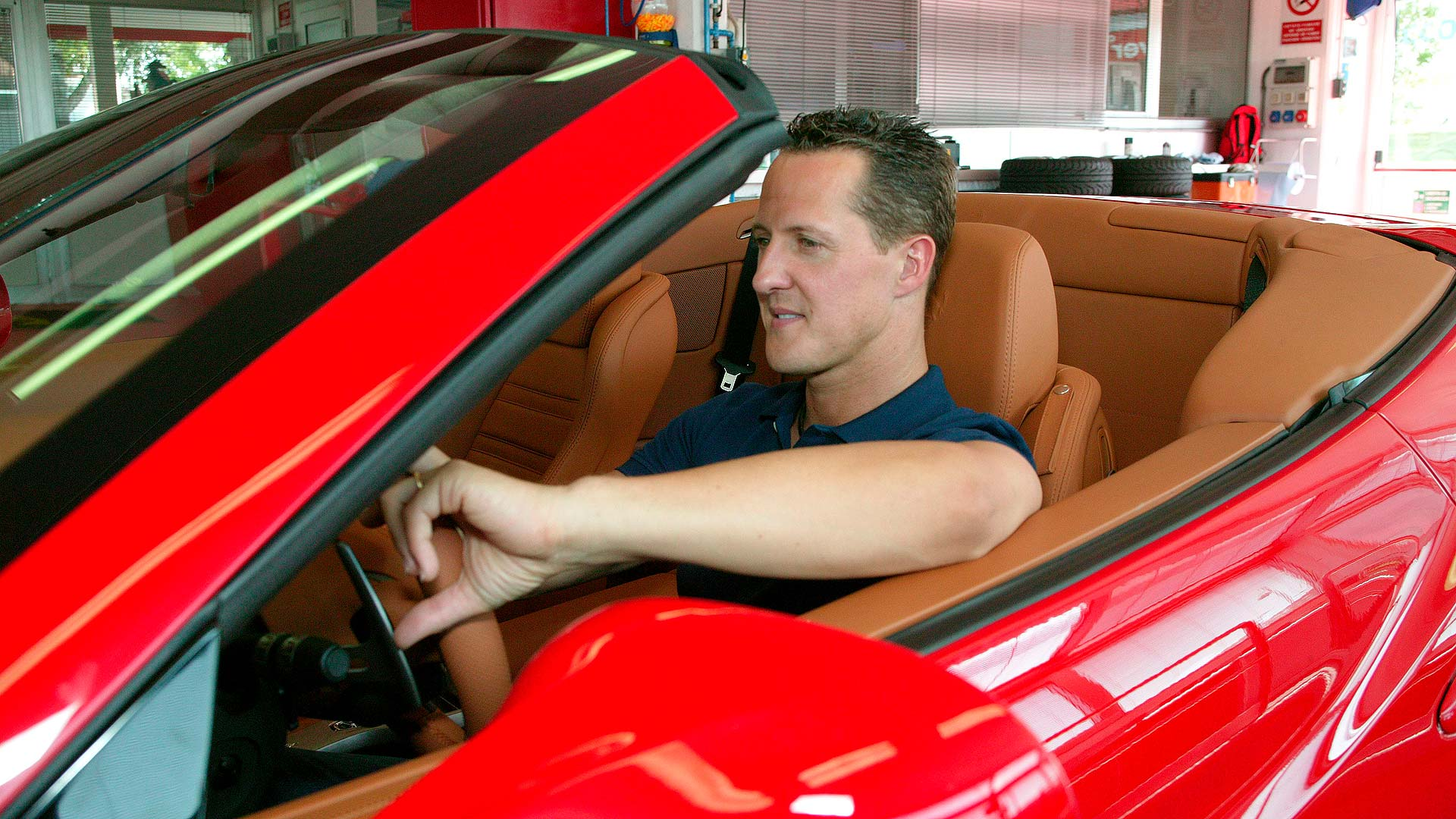 Michael Schumacher and the Ferrari California