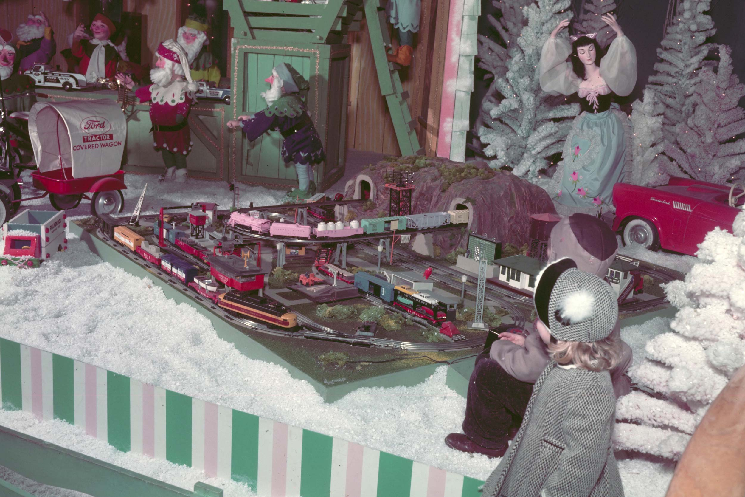 1957 Ford Rotunda Christmas train exhibit