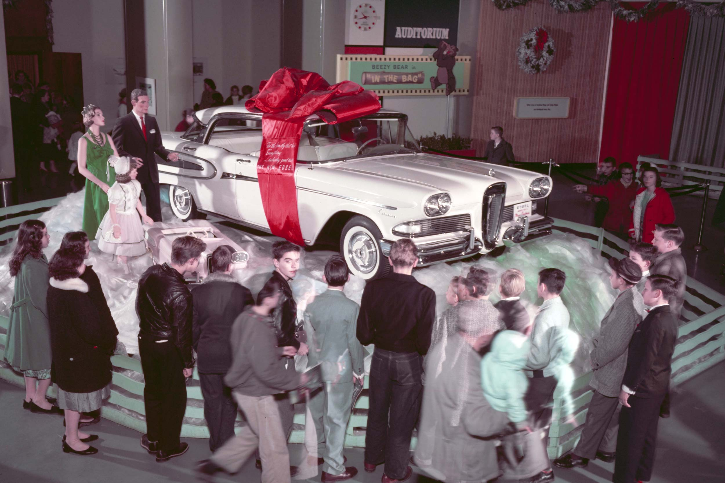 Ford Rotunda Christmas Edsel Display