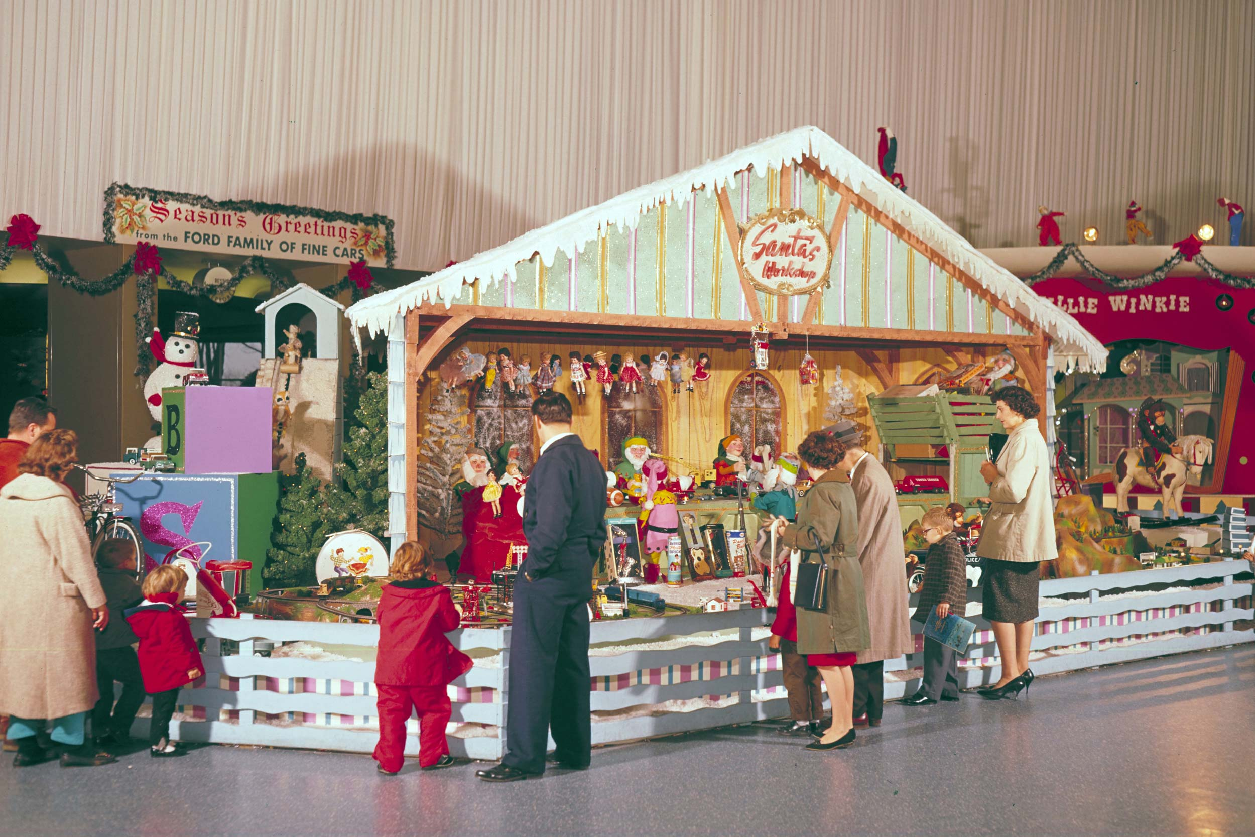 1960 Ford Rotunda Christmas exhibit Santa's Workshop