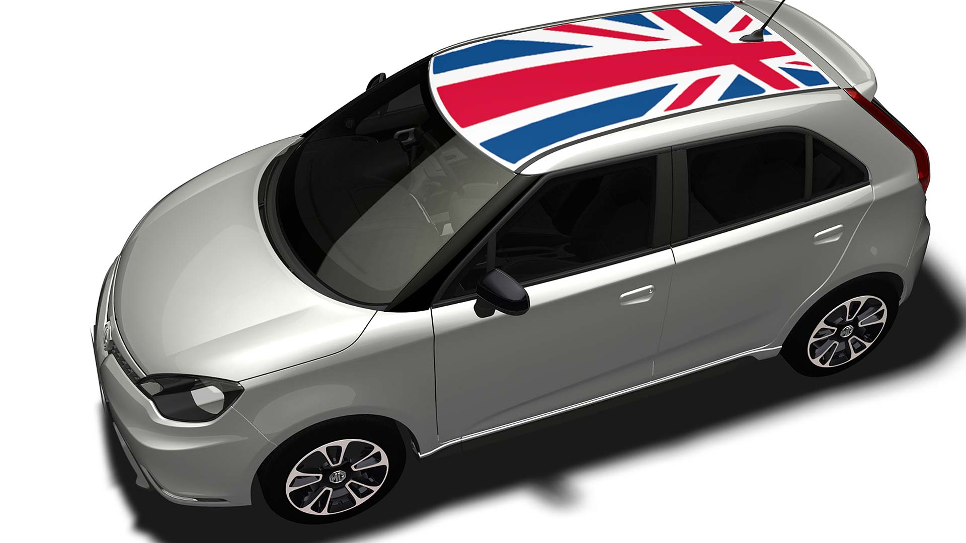 2014 MG3 with Union Flag roof accessory