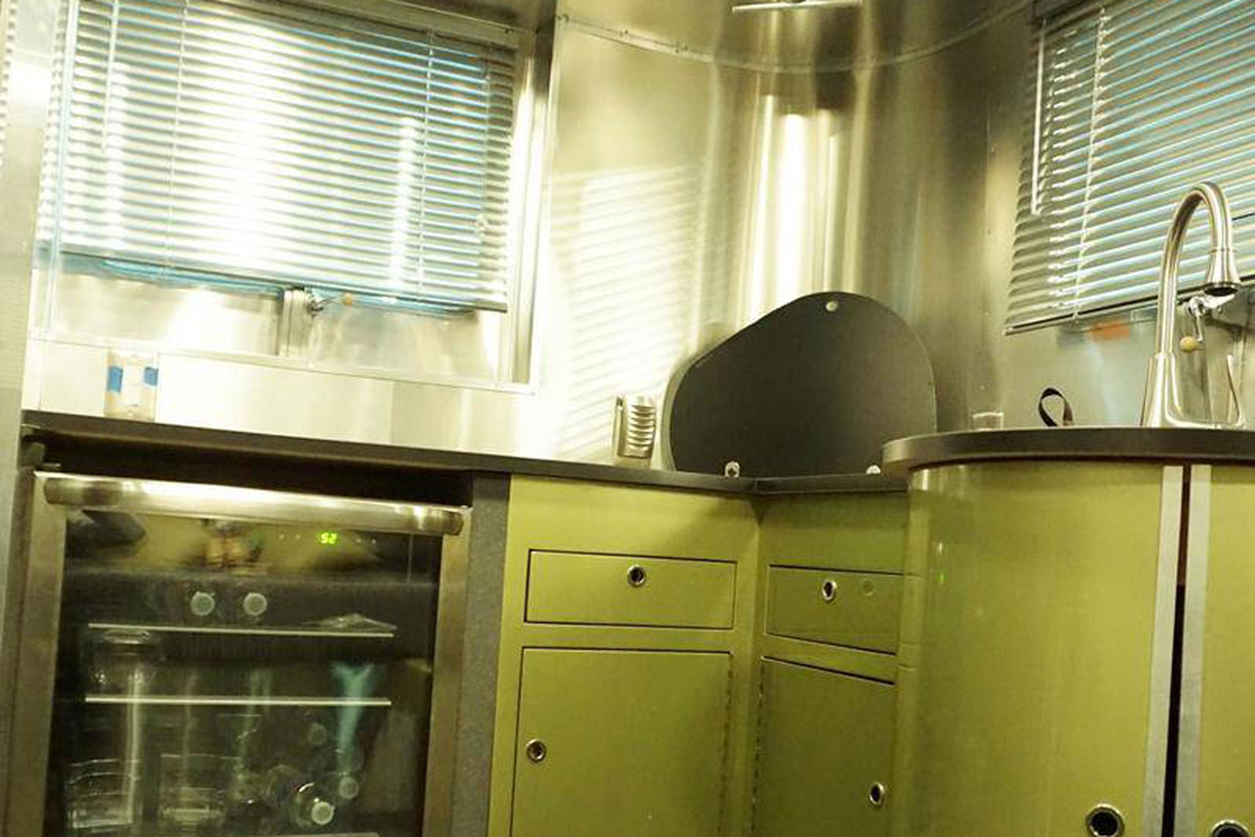 1952 Chevrolet Suburban trailer kitchen