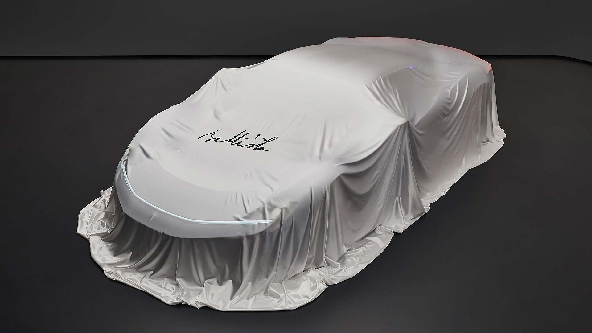 Pininfarina Battista under cover