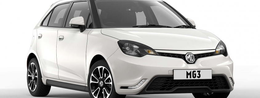 2014 MG3 in white