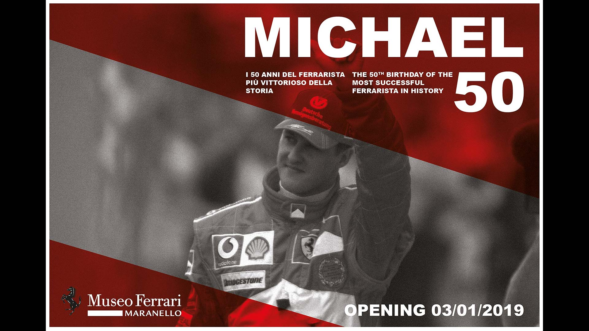 Michael 50 at Museo Ferrari
