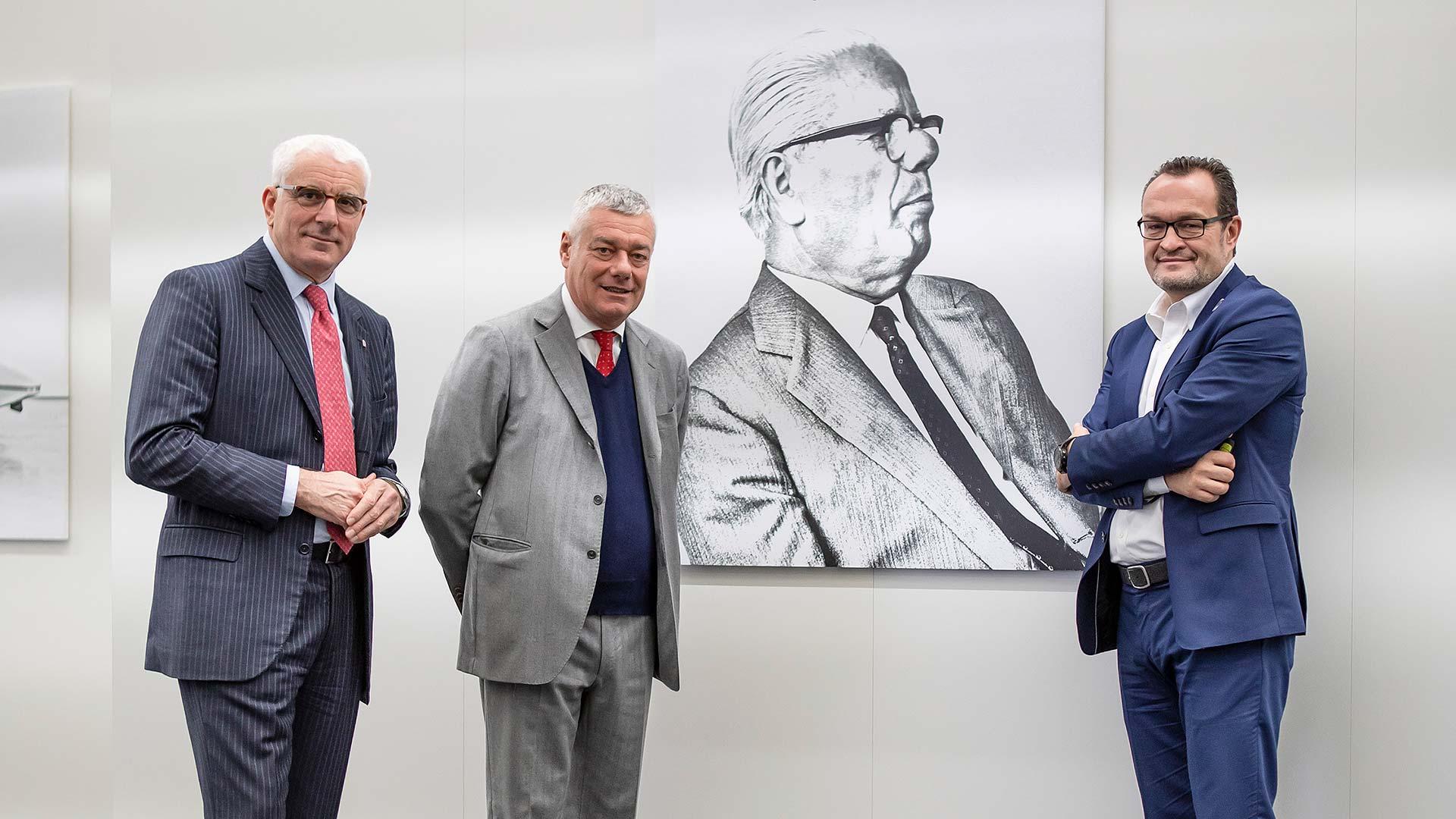 Silvio Pietro Angori, Paolo Pininfarina and Michael Perschke