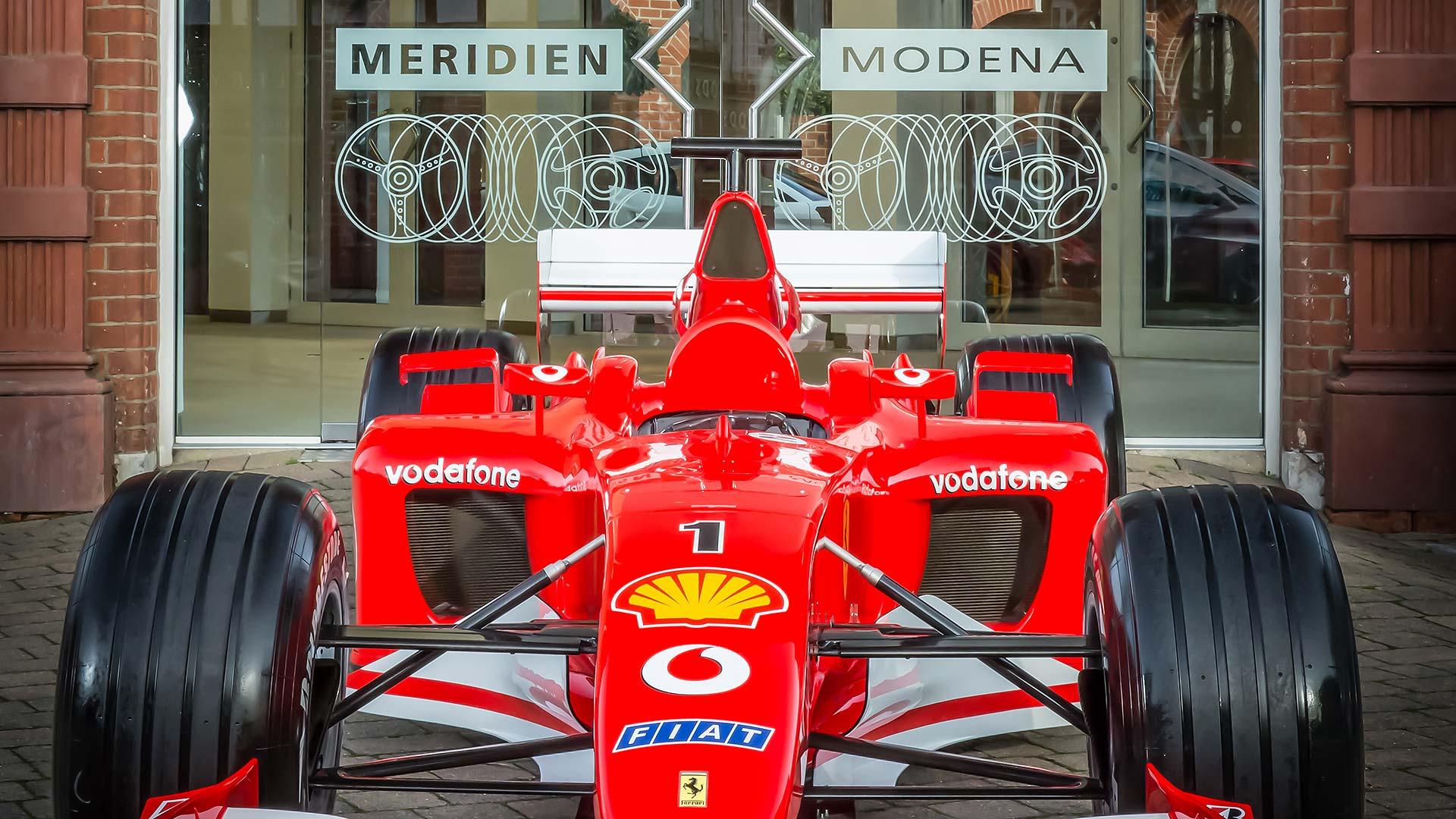 Meridien Modena wins an ex-Schumacher F1 car