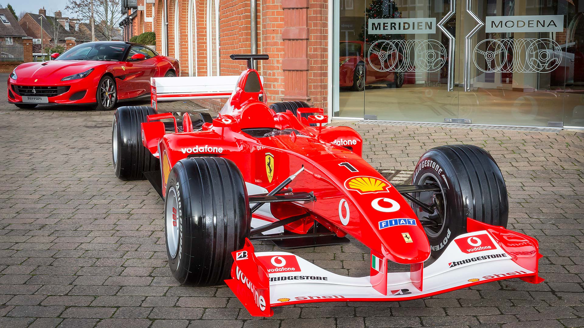 Meridien Modena's prize F1 car for being named Ferrari Dealer of the Year 2018