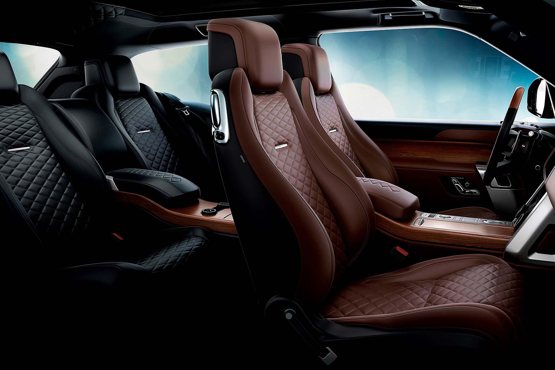 Range Rover SVCoupe interior