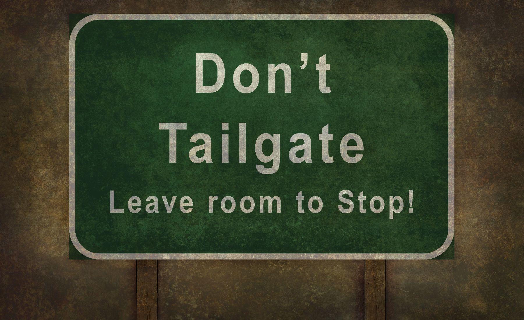 tailgater dangers