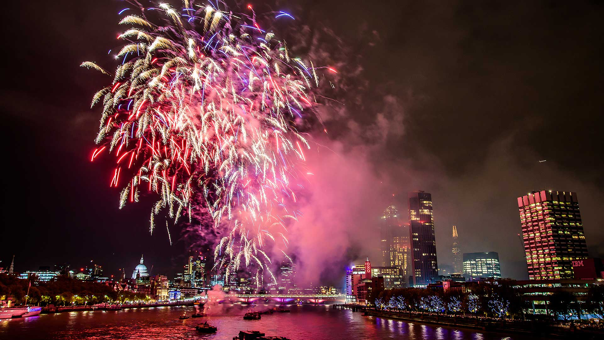 Central London fireworks