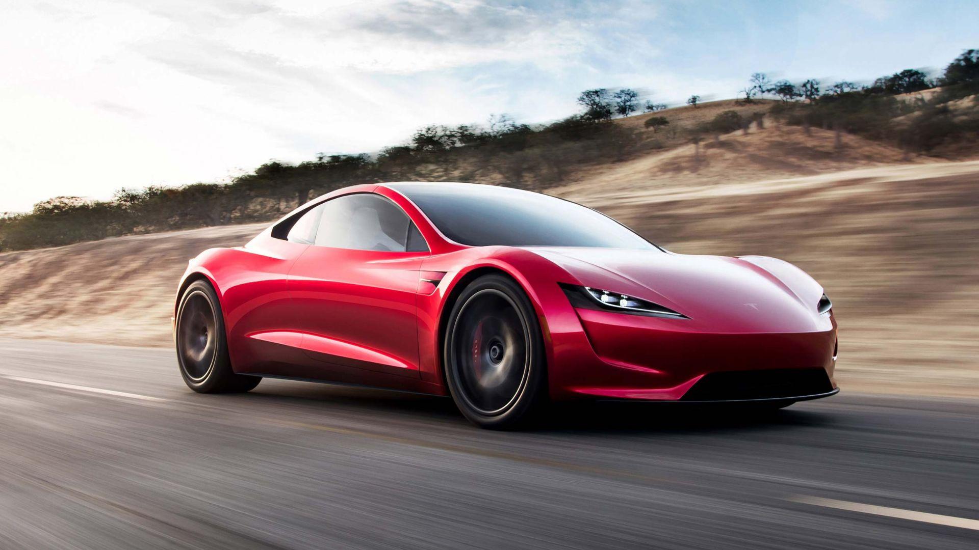 Tesla Roadster fly Space X