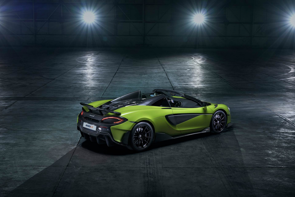 longtail legend continues new 600hp mclaren 600lt spider revealed motoring research. Black Bedroom Furniture Sets. Home Design Ideas