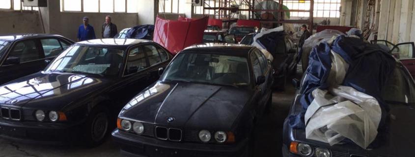 Abandoned zero mileage BMWs found in Bulgarian warehouse