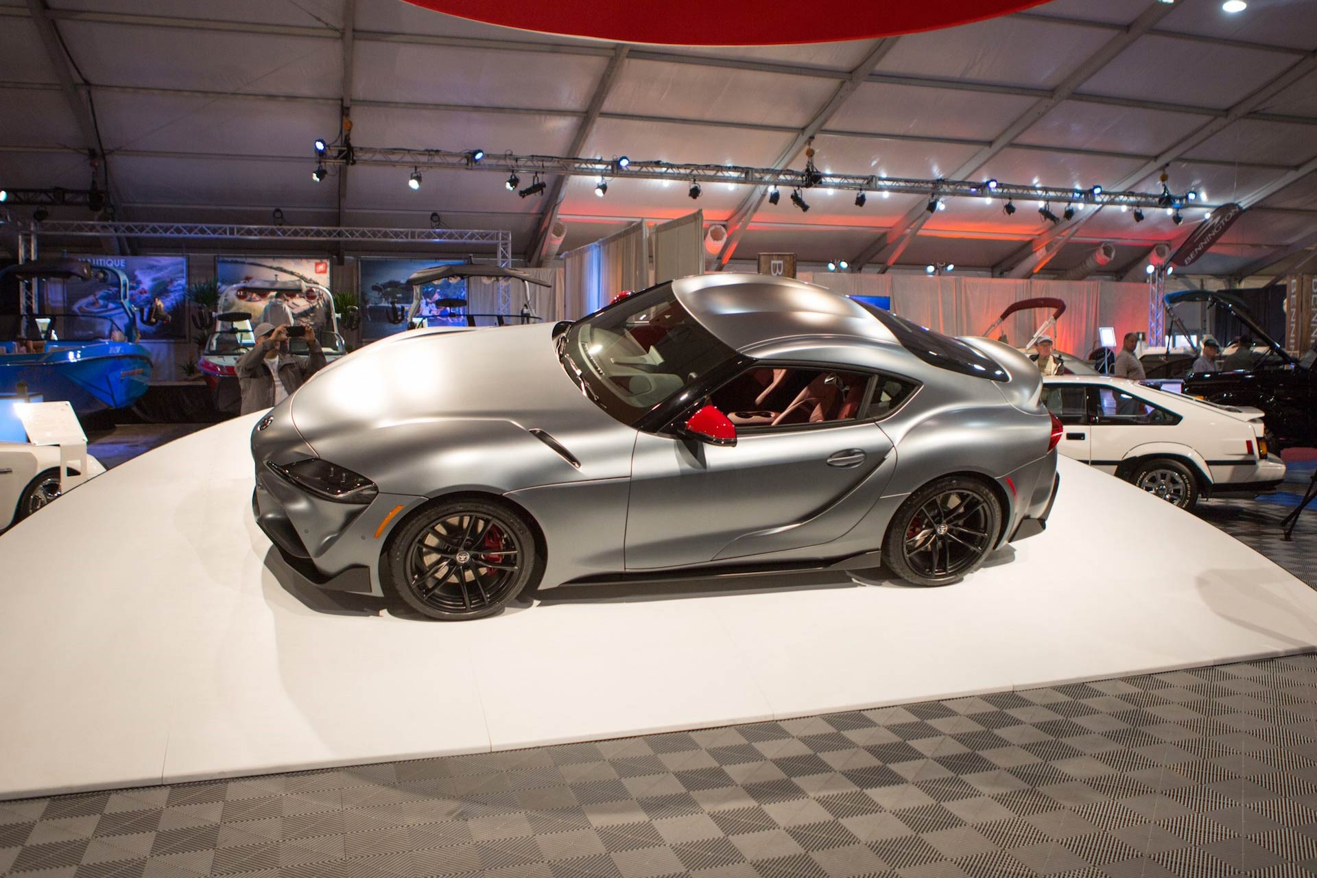 first 2020 toyota gr supra sells for an incredible 2 1 million at auction motoring research. Black Bedroom Furniture Sets. Home Design Ideas