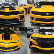 Four Bumblebee Transformers Camaros at auction