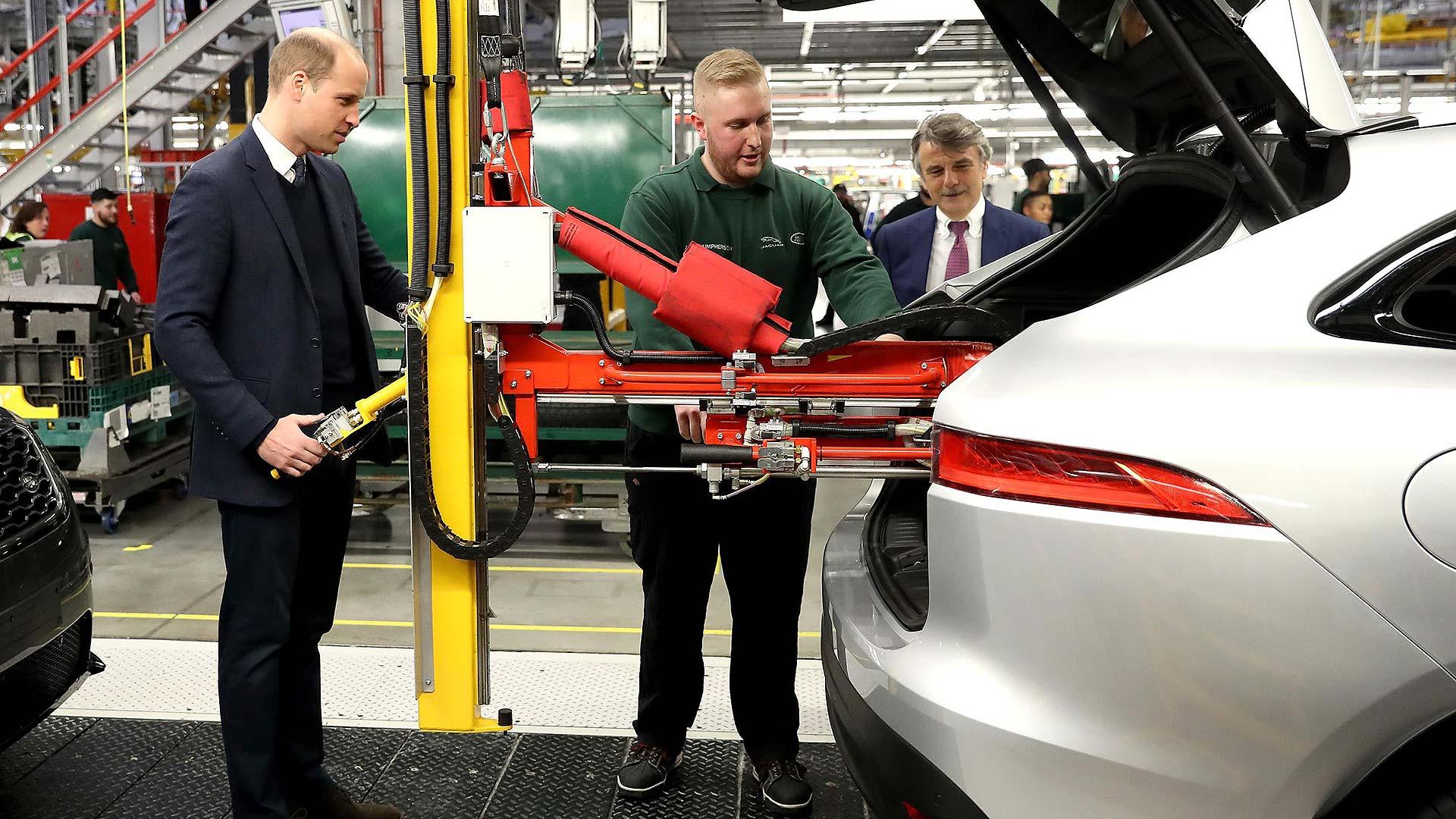 HRH Prince William visiting JLR plant