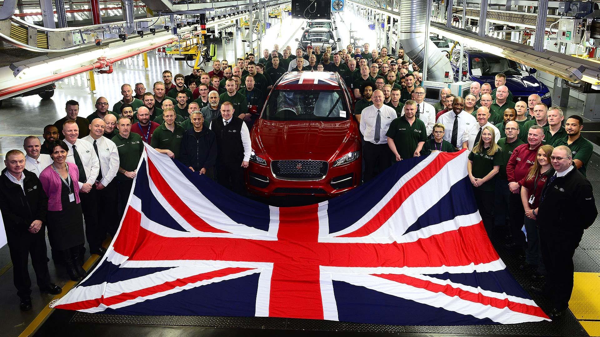 Jaguar F-Pace production line