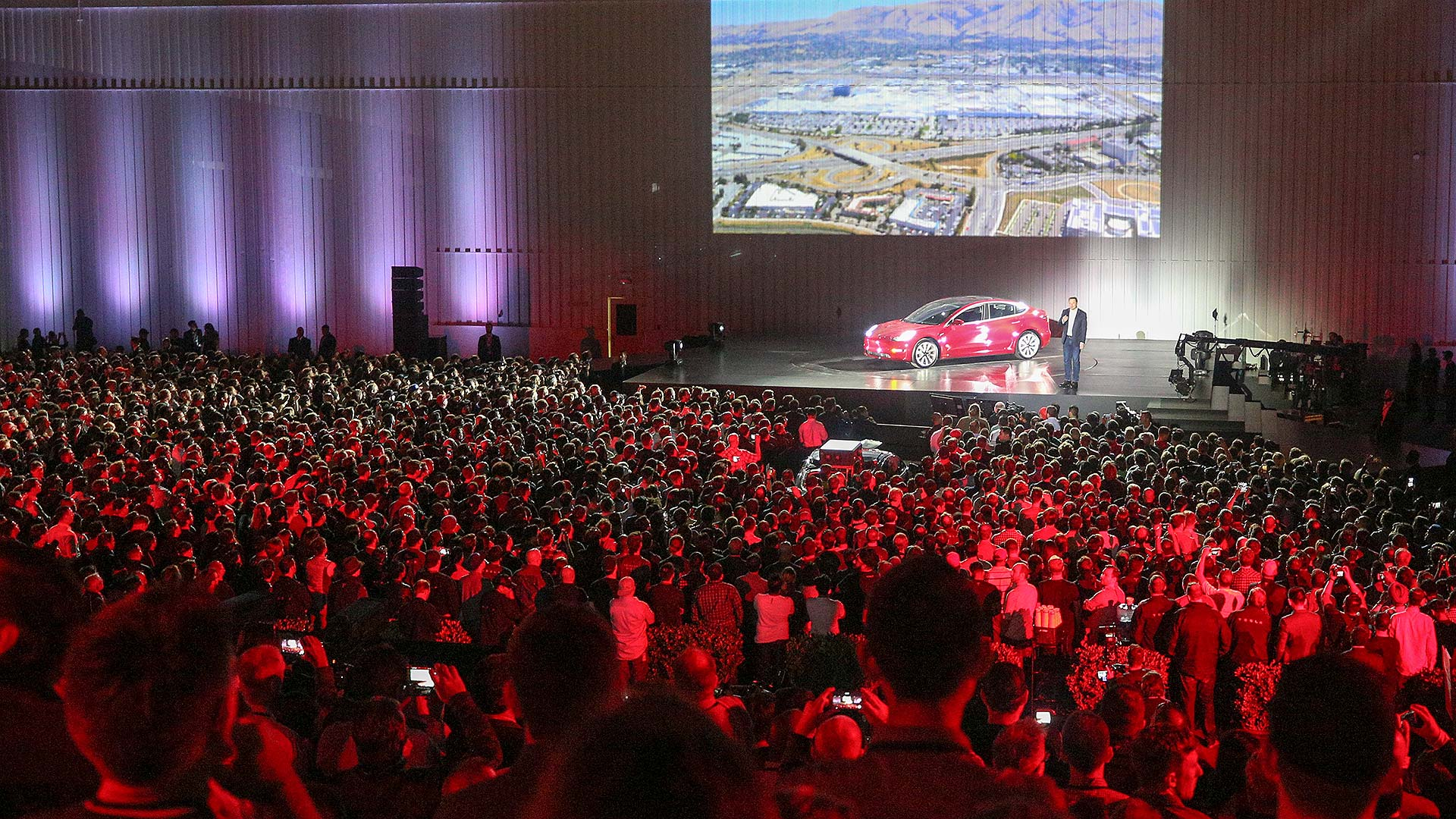 Tesla Model 3 delivery event