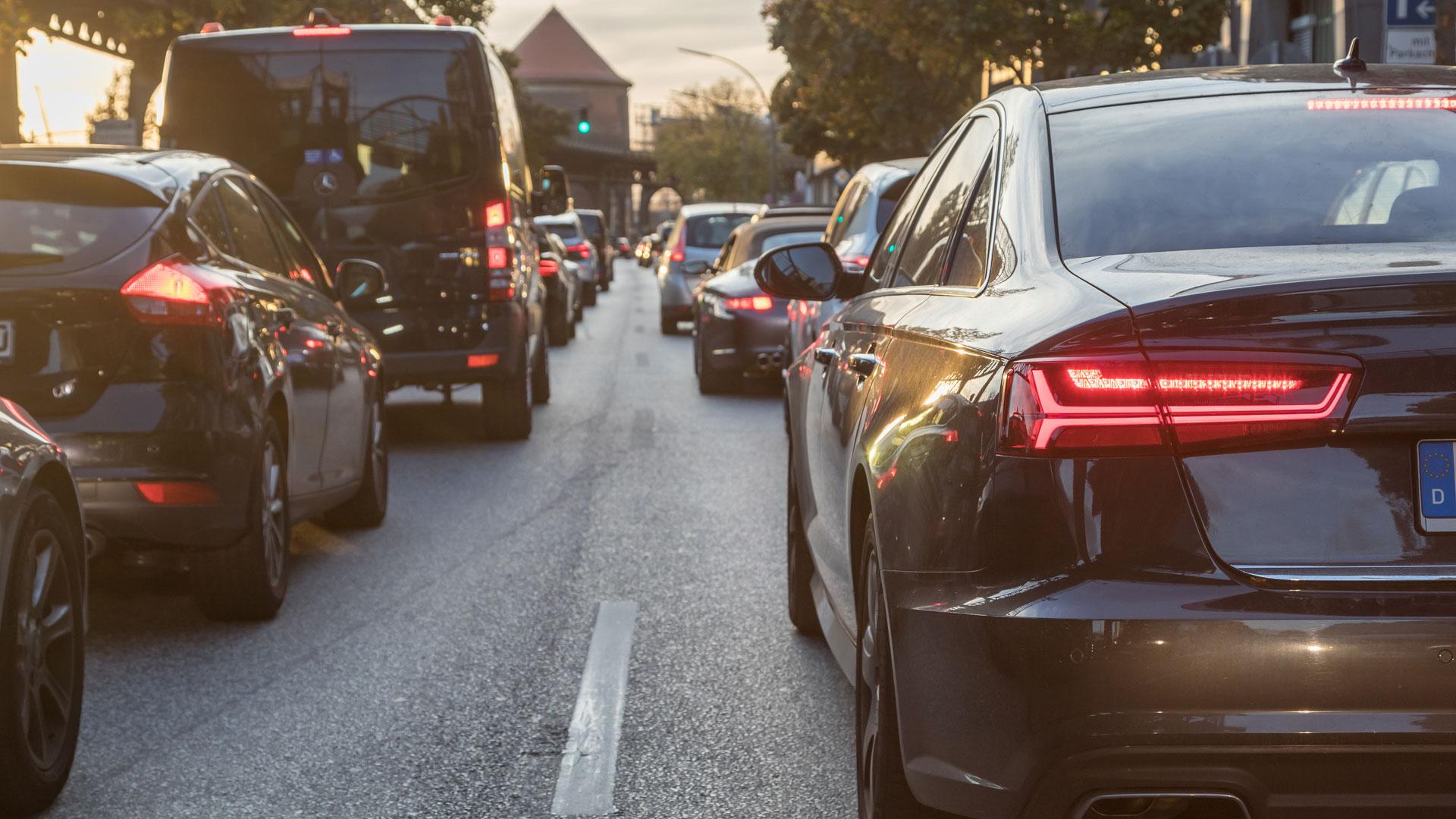 Traffic congestion in Hamburg