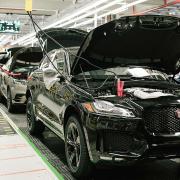 Jaguar Land Rover car production line