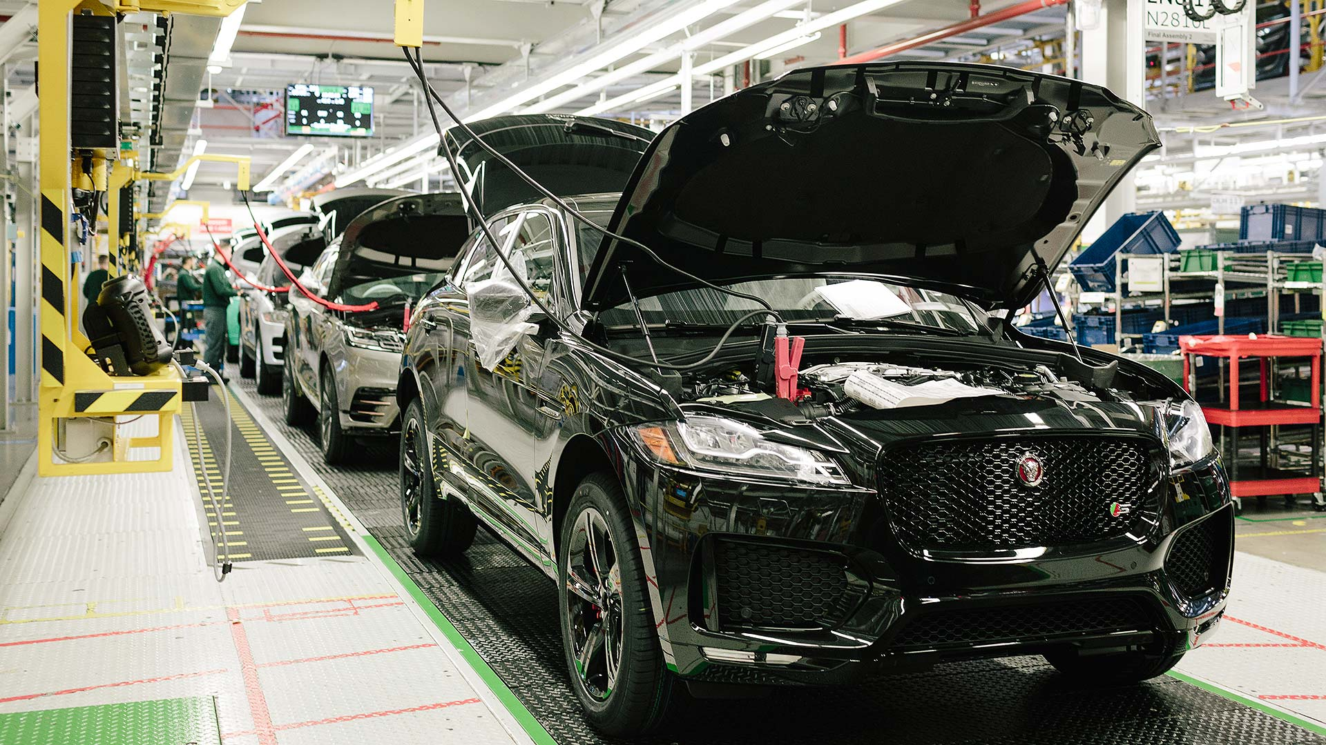 Jaguar Land Rover car production line