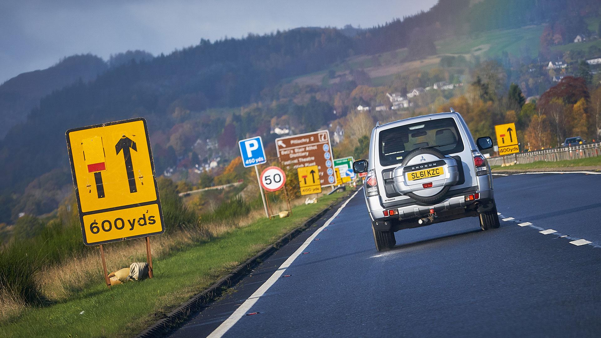 lane closed roadworks
