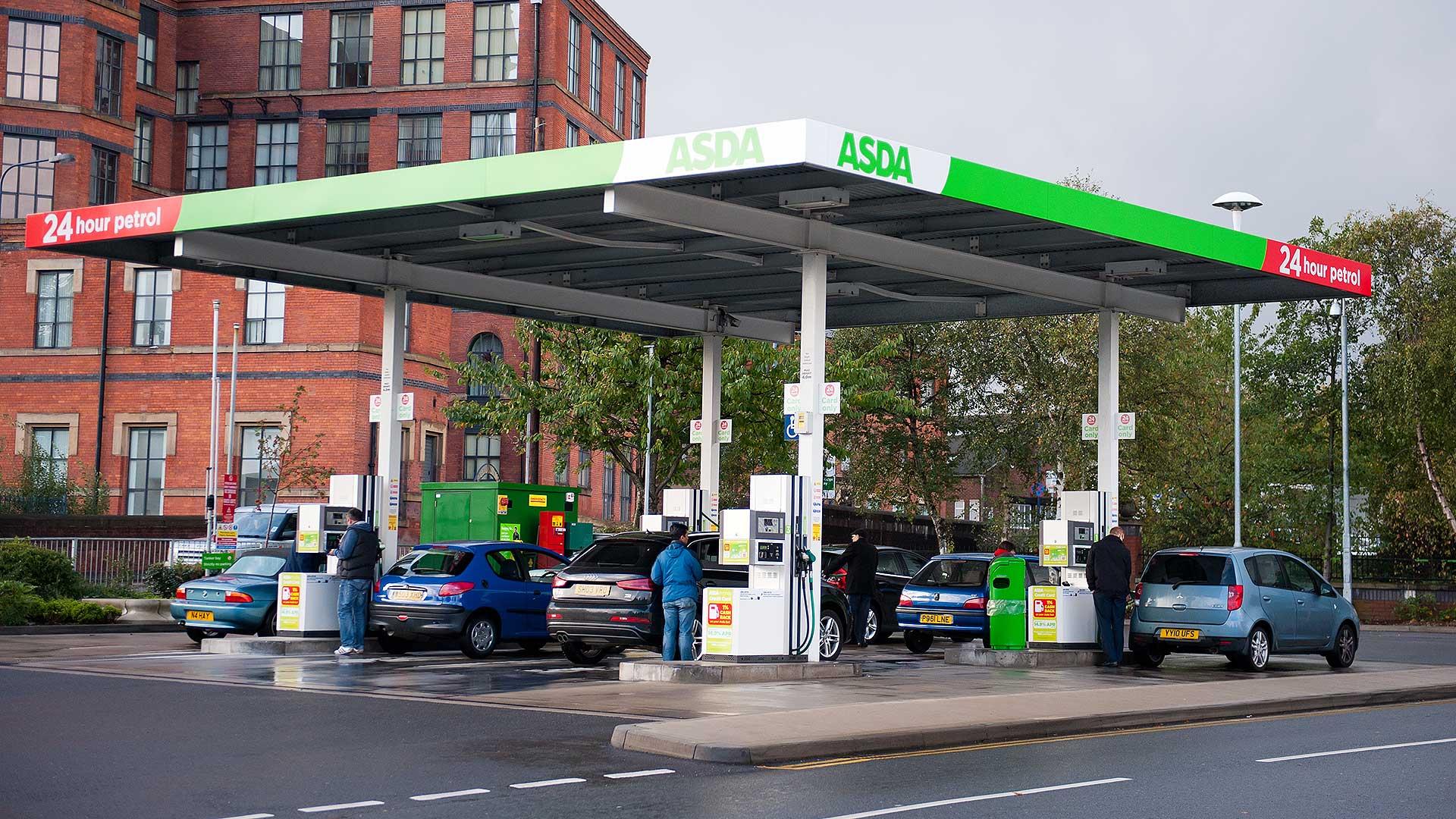 Asda filling station forecourt