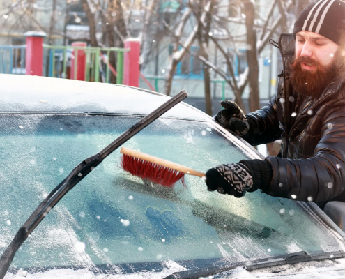 end of icy windscreens and wipers