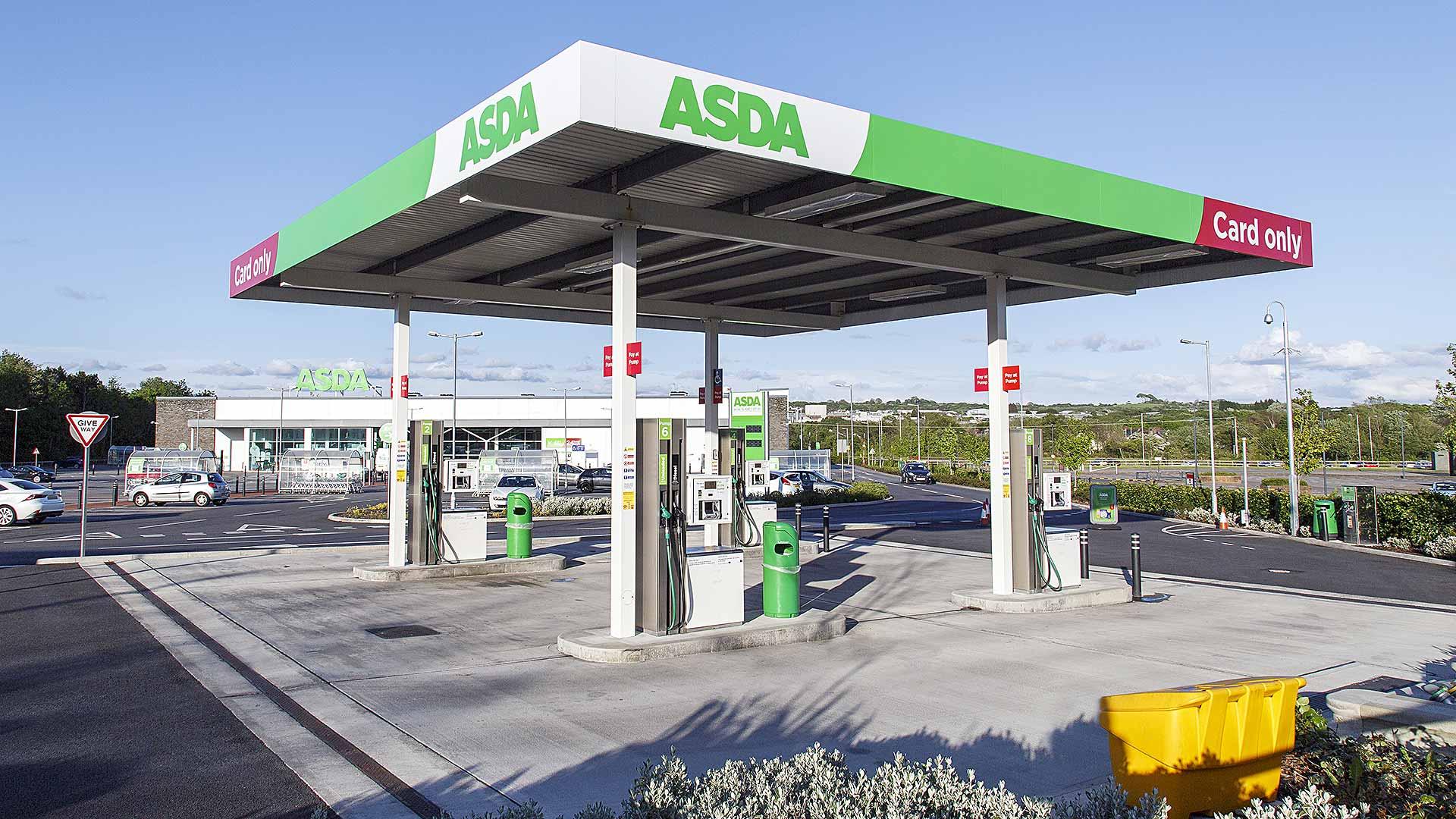 Asda fuel filling station