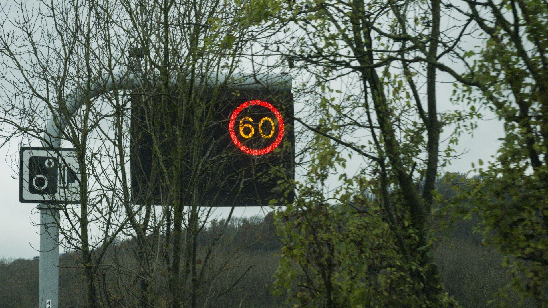Speed cameras limits motorways