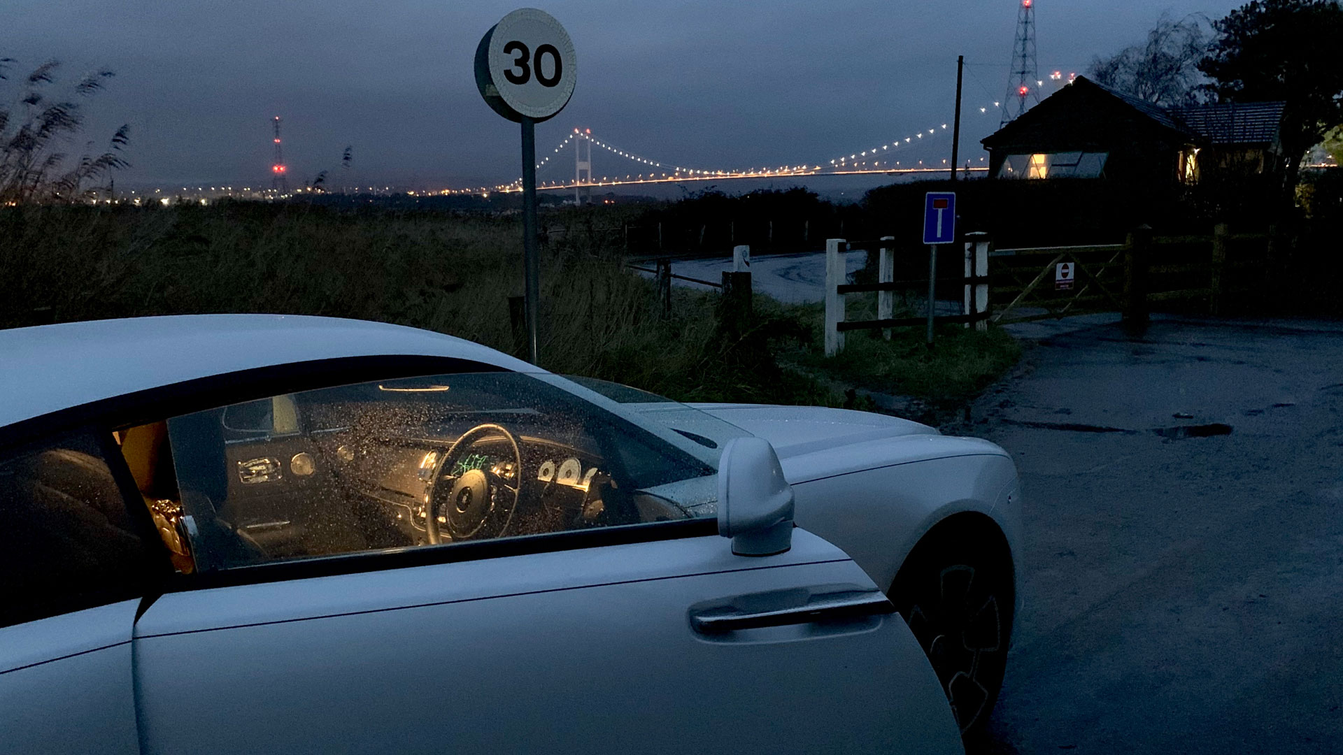Rolls-Royce Wraith Black Badge at Severn Bridge
