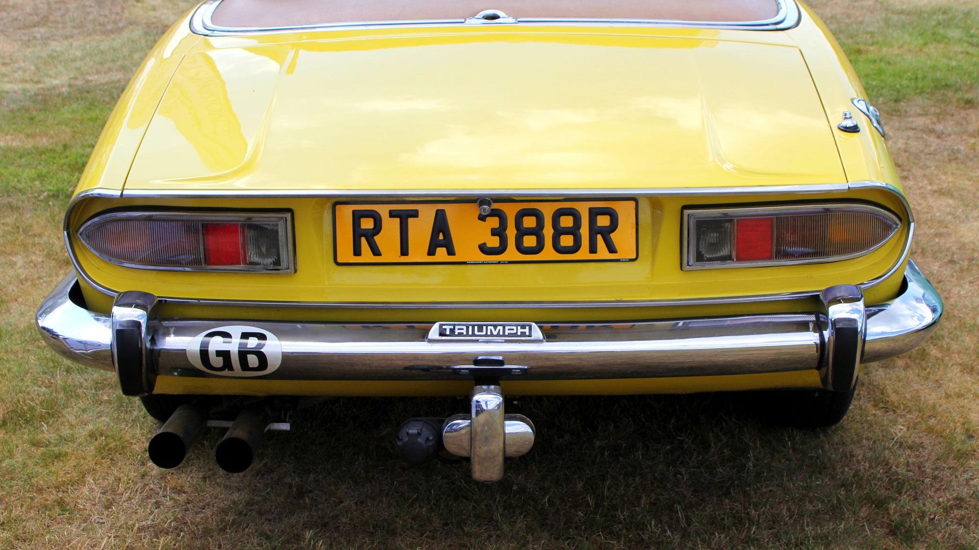GB sticker on Triumph Stag