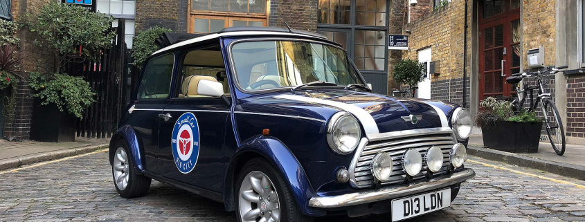 Mini 60th anniversary drive in London