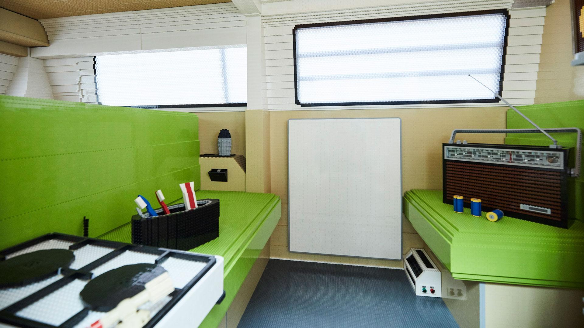Lego camper interior