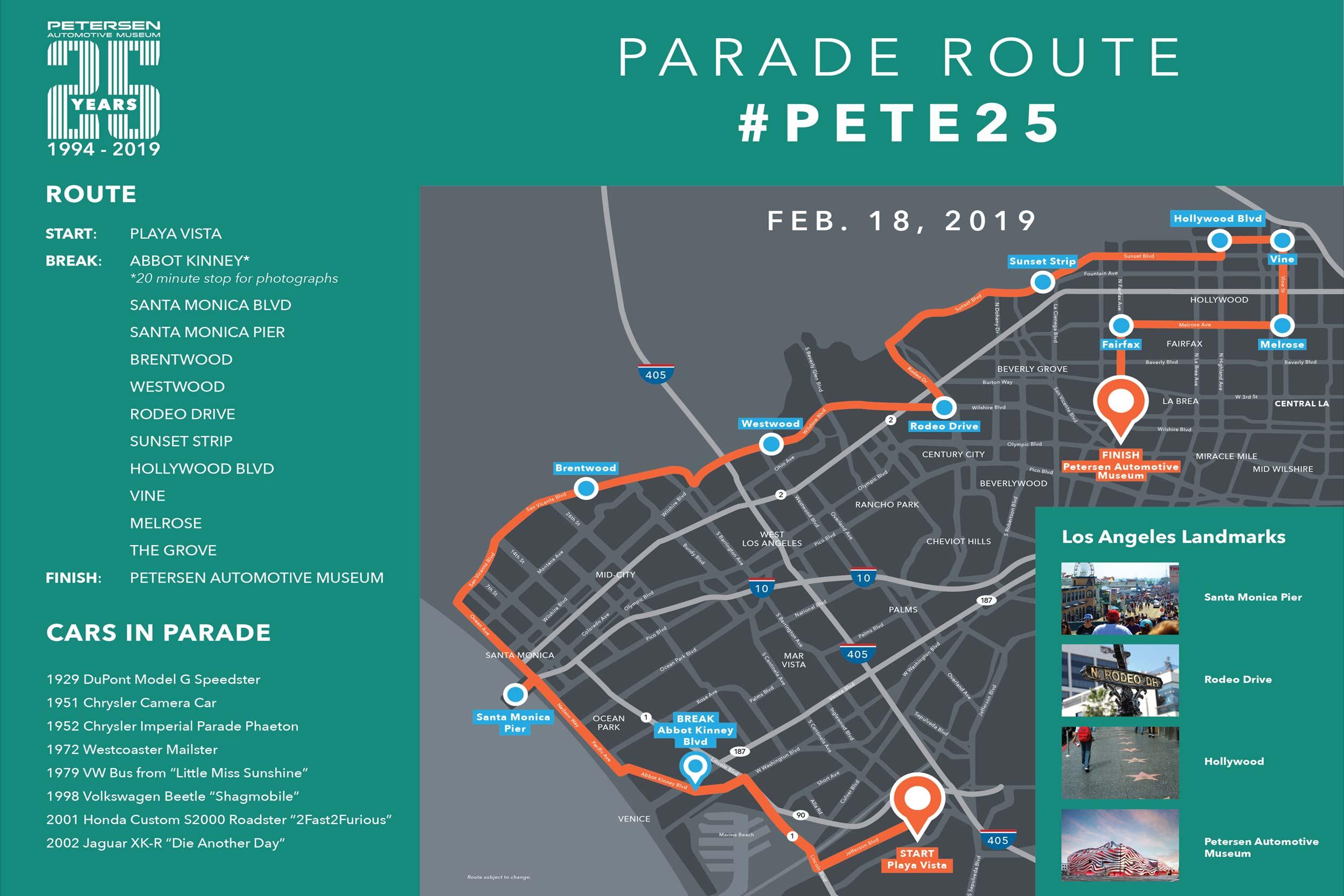 PAM Parade Map Feb 18 2019