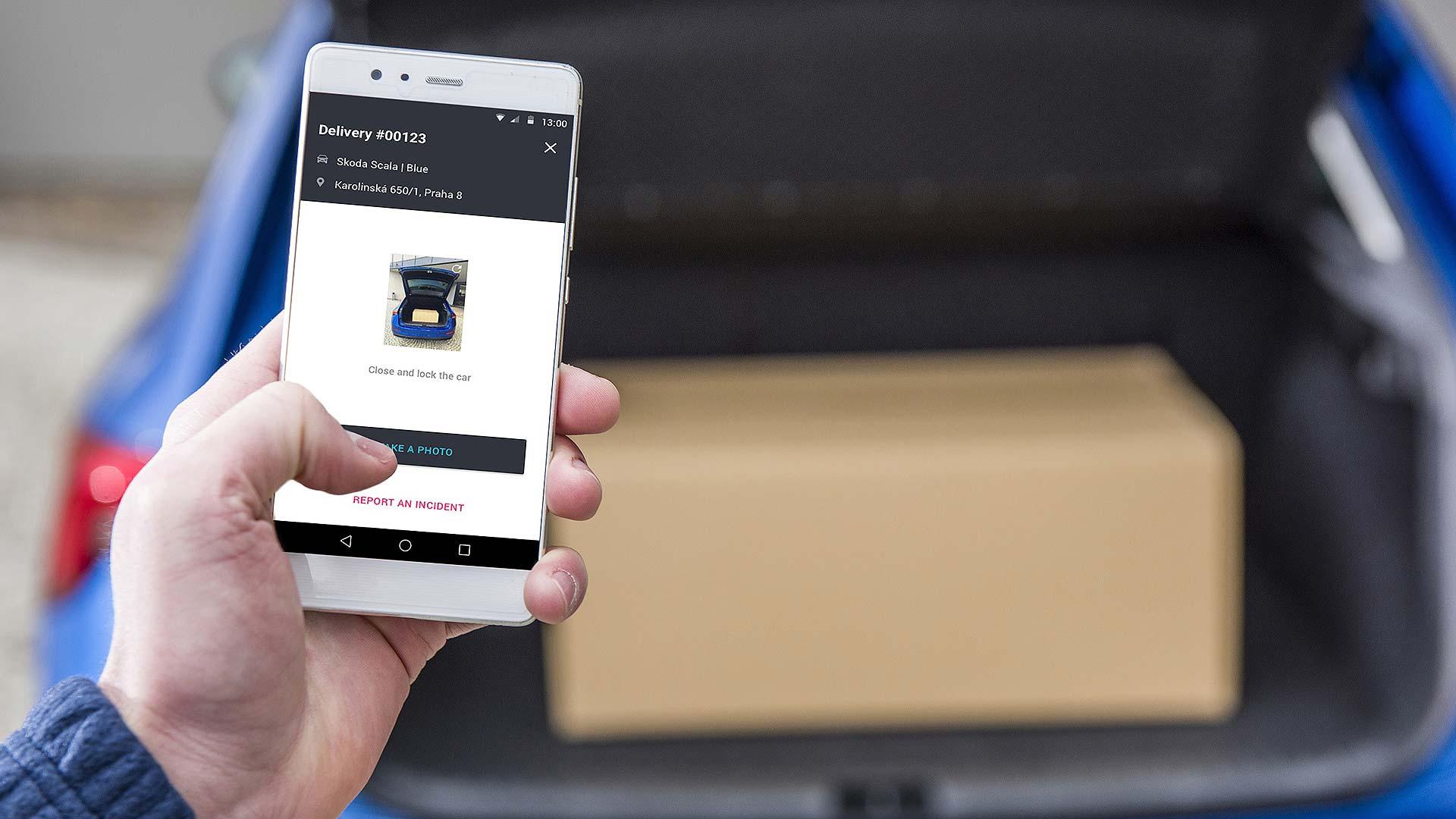Skoda delivery app