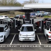 BP Chargemaster rapid charging hub at Milton Keynes Coachway
