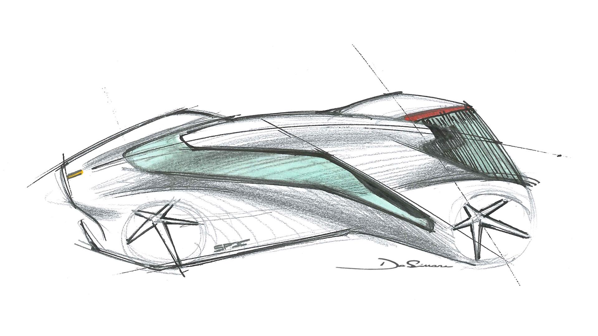 Ferrari P80C drawing