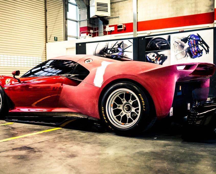 Ferrari P80C garage