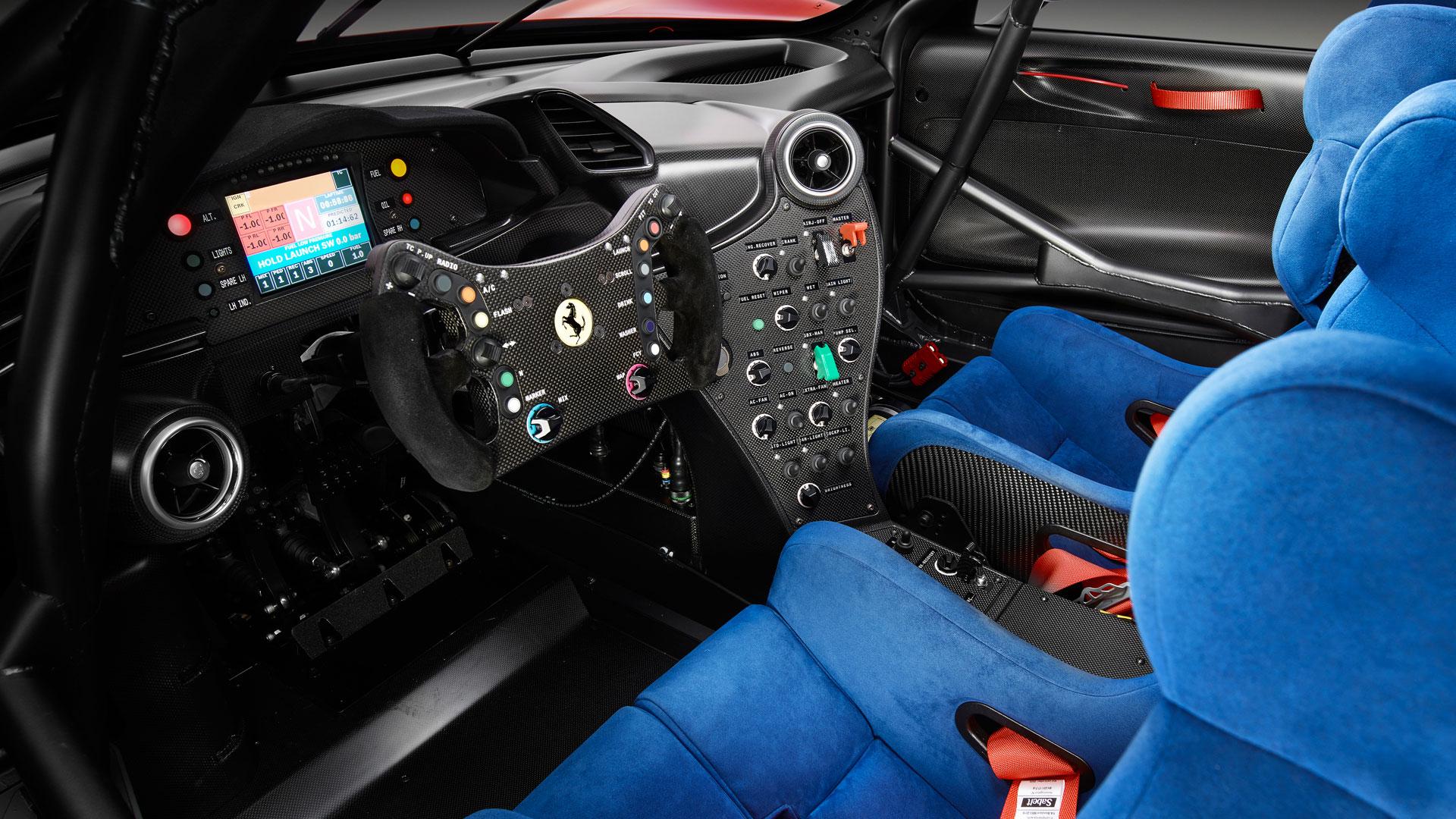 Ferrari P80C interior