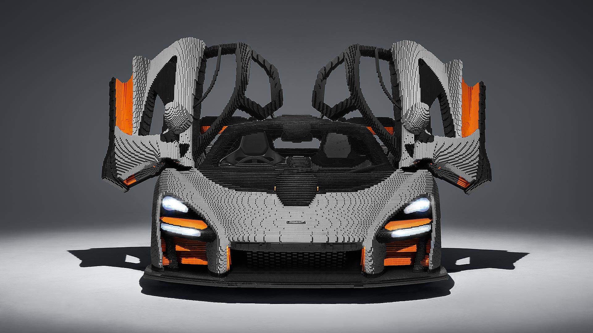 LEGO McLaren Senna front doors opened