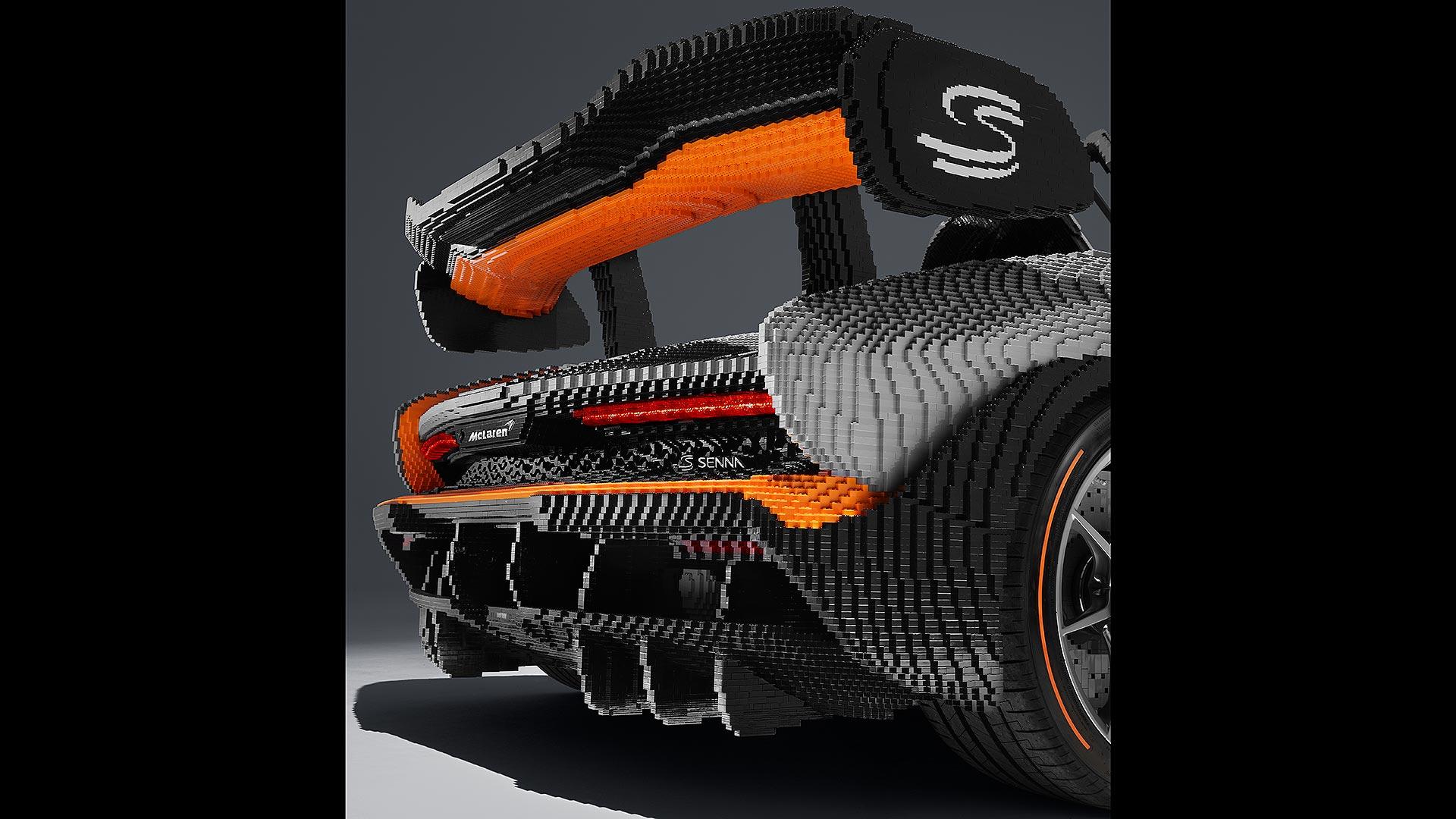 LEGO McLaren Senna rear spoiler