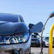 Jaguar I-Pace electric car charging at Gaydon