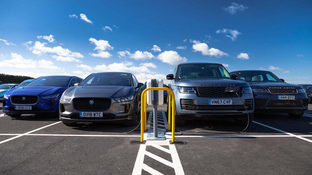 Jaguar Land Rover turns on Britain's largest EV smart charging site