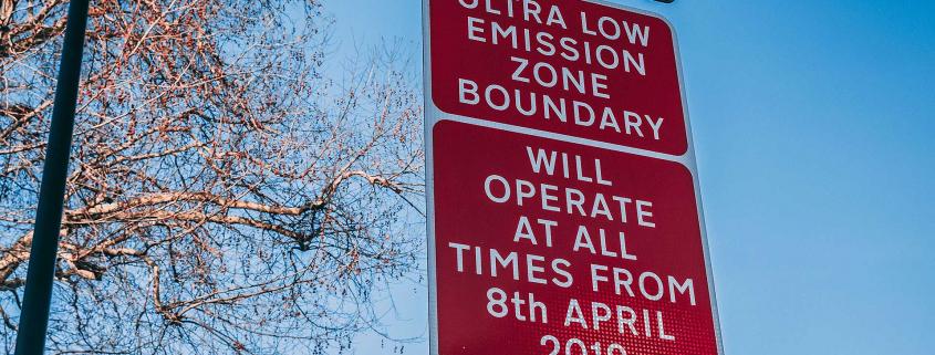 London Ultra Low Emission Zone boundary sign