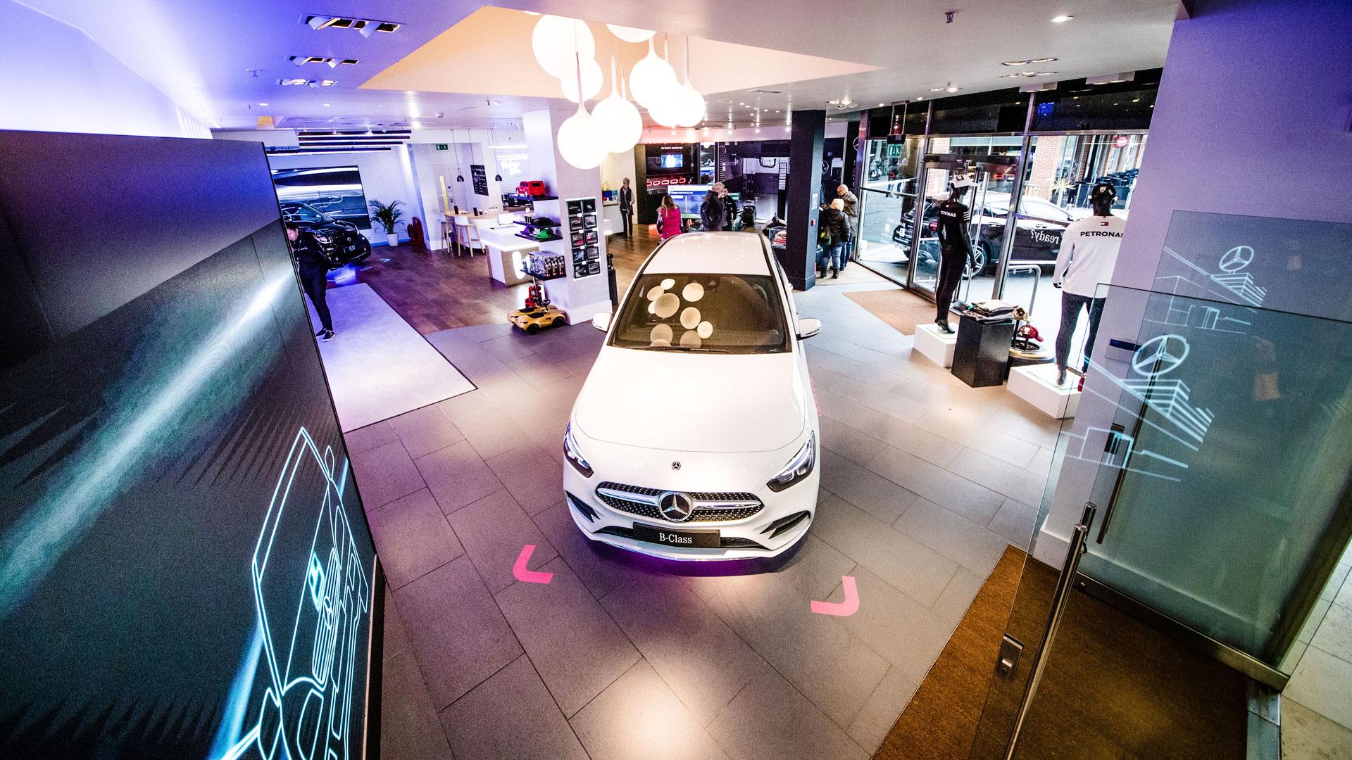 Mercedes-Benz dealer showroom