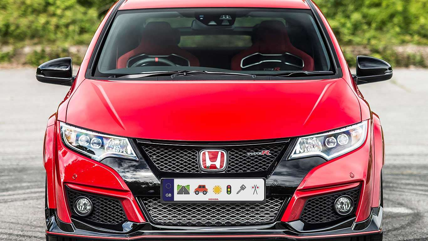 Honda emoji licence plate
