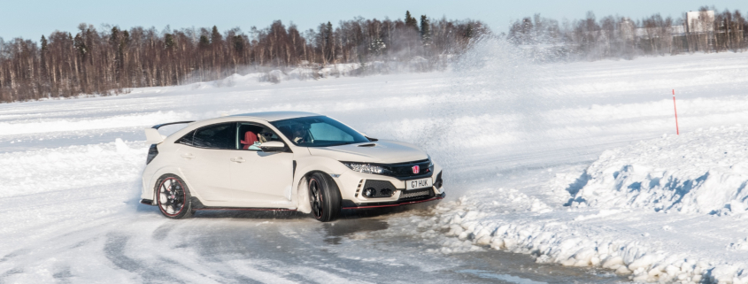Civic ice driving